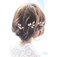 handmadejewelrylady novia oro rosa vintage pelo pines boda partido Crystal  Rhinestone Hair Pins pelo accesorios mujeres 5d5e2f374d53