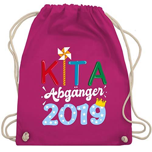 Einschulung und Schulanfang - Kita Abgänger Windrad 2019 - Unisize - Fuchsia - WM110 - Turnbeutel & Gym Bag - Windrad-tasche