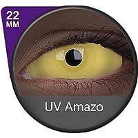Kontaktlinsen Festive ohne Stärke Phantasee Modell Sclera 22mm UV Amazo (Neon unter UV)