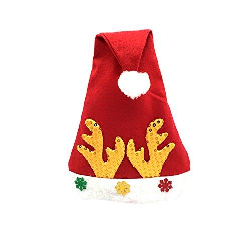 Da.Wa Kind Weihnachten Traditionelle Cap Santa Claus Reindeer Hut für Kinder (Santa Hüte Für Kinder)