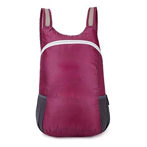 Outdoor Leichte Faltbare Schulter Tasche Tragbar Wasserdicht Wandern Tasche Purple