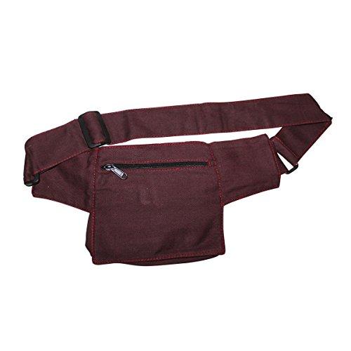 Freak Scene® Tasche ° Gürteltasche ° Jim ° Bauchtasche ° Hüfttasche, alle Farben!!! rot-bordeaux