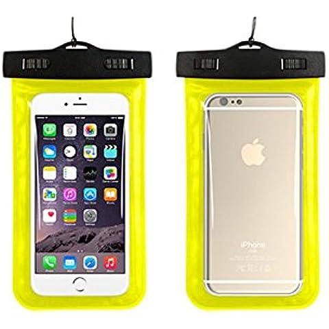 bemodst® Universale telefono impermeabile borsa custodia a sacchetto per attività all' aperto custodia per touch screen per Apple Iphone 6, 6Plus, 5S 5C 54S, Samsung Galaxy S6, S5, Galaxy Note 43, HTC LG SONY MOTOROLA, Yellow