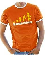 Contrast Ringer T-Shirt S-XXL Evolution Various Colours