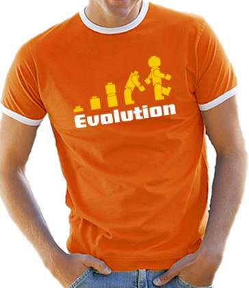 Sitz Banana Orange (Touchlines Herren T-Shirt Evolution, Orange/Weiss, XXL)