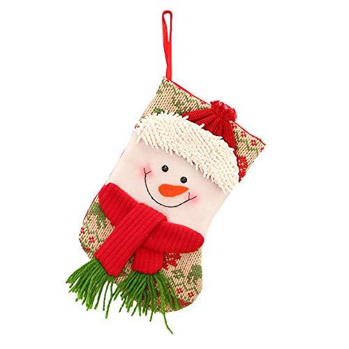 n Strumpf Beutel Weihnachtssocke Christmas Stocking Weihnachtsstrumpf Mini Socke Weihnachtsmann Candy Geschenk Tasche Weihnachtsbaum hängende Dekor (Colour A) ()