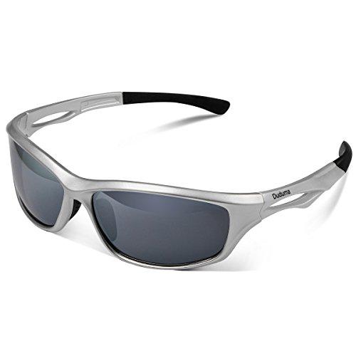 Duduma Polarisierte Sportbrille Sonnenbrille Fahrradbrille mit UV400 Schutz für Damen & Herren Autofahren Laufen Radfahren Angeln Golf TR90 (Schwarz Matt Rahmen mit Braun Linse) YVF4ood