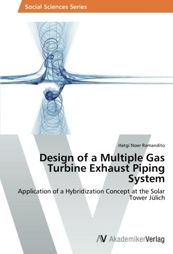Design of a Multiple Gas Turbine Exhaust Piping System: Application of a Hybridization Concept at the Solar Tower Jülich -
