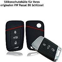 Funda de silicona para llave de coche, estuche de protección para sistema Keyless Go, negro