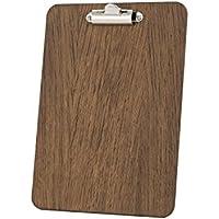 Tabla Sujetapapeles, 240x 175mm, A5, acabado de madera de roble oscuro