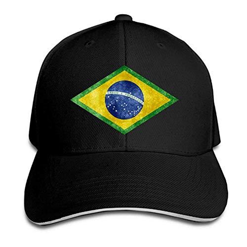 Khzhajian Brazil Brasil Distressed Flag Men's Unisex Cool Caps Adjustable Hat Cotton Hat