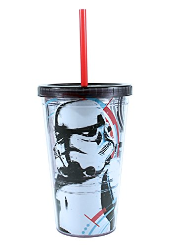 Storm Trooper 16 oz Plastic Cold Cup w Ice Cubes Standard