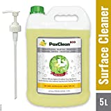 #8: PaxClean – ECO 5L, Multi-Surface Disinfectant Sanitizer Cleaner Concentrate for Floor, Kitchen, Toilet, Germicide - Deodorizer Combo with Pump (Citrus)