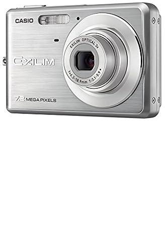 Casio EXILIM EX-Z77 SR Digitalkamera (7 Megapixel, 3-fach opt. Zoom, 6,6 cm (2,6 Zoll) Display) silber