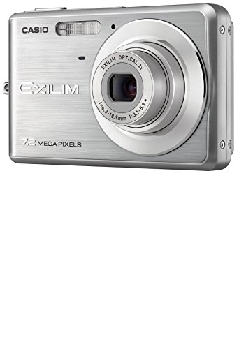 Casio EXILIM EX-Z77 SR Digitalkamera (7 Megapixel, 3-fach opt. Zoom, 6,6 cm (2,6 Zoll) Display) silber