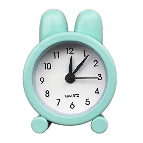 Niedliche Kaninchen Mini Wecker, Kreative Metall Kleine Wecker, 5 cm Elektronische Kleine Student Test Carry Uhren