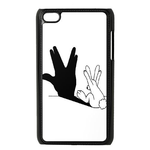 TOPDIY DIY Brand New Phone Case for Ipod Touch 4 with Rabbit Hand Shadow