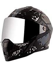 Vega Storm Atomic Dull Black Silver Helmet-L