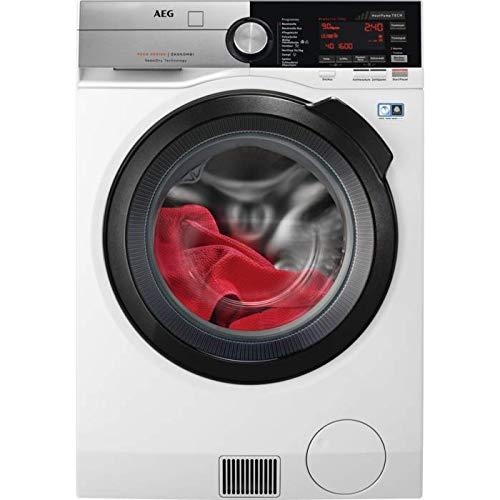 AEG L9WE86695 Waschtrockner Frontlader / Weiß / Waschmaschine (9 kg) und Trockner (6 kg) mit Schontrommel für edle Stoffe / Material- und Mengenautomatik