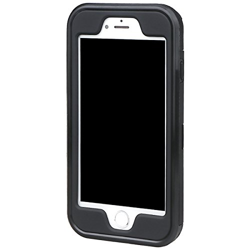 """xhorizon Schmale Passform Panzer schützende Stoßdämpfende Handyhülle, Doppelschicht, Versteckter Kreditkartenhalter, Brieftasche Handy Schutzhülle mit Spiegel für iPhone 7 / iPhone 8 [4.7""""] mit einem  Schwarz + 9H Tempered Glass Film"""