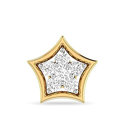 PC Jeweller The Annora 18KT Yellow Gold and Diamond Nose Pin for Women