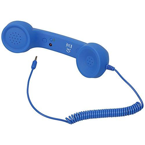 YouN Retro Radiation Proof Phone Handset 3.5 MM Socket(Blue)