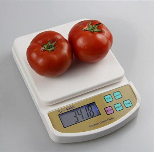 JMung'S Bilancia Da Cucina Digitale Bicchiere Multifunzionale stampa Accuweight Professionale,Capacità Massima 5Kg , 3kg/0.1g
