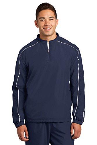 Sport-Tek Piped Colorblock 1/4-Zip Wind Shirt. JST64 1/4 Zip Windshirt