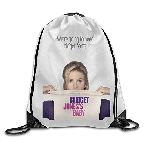 HLKPE Bridget Jones's Baby Movie Poster Storage Use Lightweight String Backpack