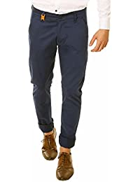 Nimegh Royal Blue Colored Cotton Casual Solid Trouser For Men's