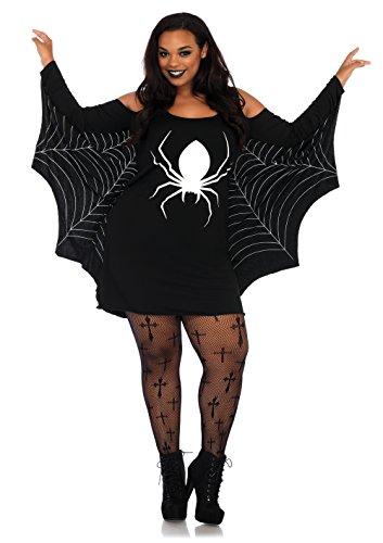 Leg Avenue 86647X Jersey Spiderweb Kostüm, Schwarz, XXX-Large (EUR 46/48)