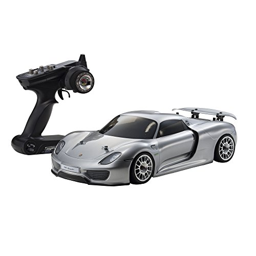 1/10 EP 4WD FAZER VE Porsche 918 Spyder Ready Set (argent) 30917T1