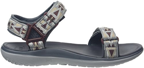 Teva Terra-Float Universal, Sandales Bout Ouvert Homme Gris (Mosaic Grey/Chocolate/Mgch)