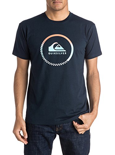 Quiksilver Herren Screen Tee Clastessactivlo M T-Shirts, Blau (Navy Blazer Byj0), Medium