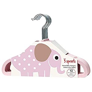 3Sprouts Kleiderbügel, Elefant pink
