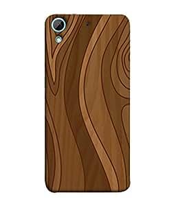 Fuson Designer Back Case Cover for HTC Desire 728 Dual Sim :: HTC Desire 728G Dual Sim (Wood Lakadi Antique Fashion Wood finish Dark Grey )