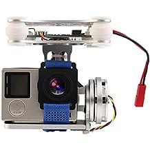 XCSOURCE® 2 Achsen Brushless Kardan Kamera halterung mit Controller Motor RTF für GoPro 3/3 + / 4 DJI Phantom 1/2 Luftaufnahme (Silber) RC440