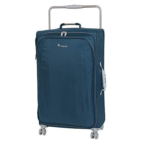 it luggage World's Lightest New York 8 Wheel Super Lightweight Suitcase Medium Valigia, 70 cm, 56 liters, Blu (Blue Ashes)