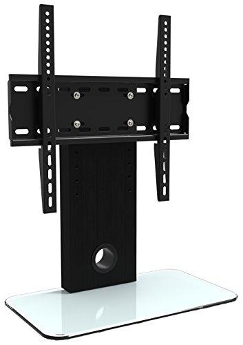Glas Mdf Tv-ständer (RICOO TV Ständer Fernseher Standfuß FS306W Fernsehtisch Halterung für Flachbildfernseher Flachbildschirm 76cm/ 30