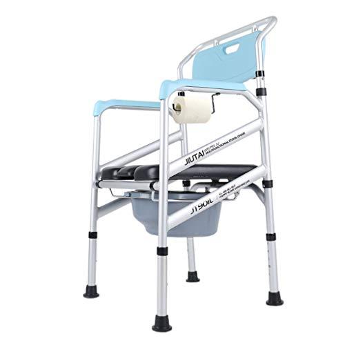 Toilette am Bett, Toilettensitz, extrabreiter Sitz, 150 kg Zuladung, einstellbare Sitzhöhe, separater oder Toilettensitz, Blau - 56 cm x 48 cm x 92/102 cm ( Color : Large suction cup anti-slip ) -