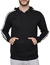SAYITLOUD Solid Men's Hooded Sweatshirt(12ASOLIDBLACK-L_Black_Large)