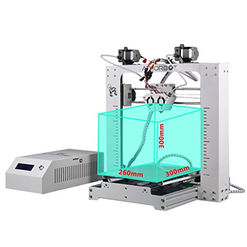 3D Drucker 2 in 1 Dual Extruder Prusa i3 Große Größe 260 x 300 x 300 mm Drucken Single/Dual / Mixed/Graded Farbe - 3