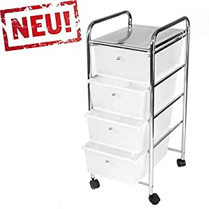 rollbares badregal k chenregal badtrolley rollwagen schubladenwagen rollcontainer aus metall. Black Bedroom Furniture Sets. Home Design Ideas