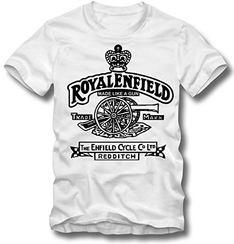 URBAN KULT T Shirt ROYAL Enfield Retro Motorbike Motorcycles Made Like A Gun Bike Enfield Cycle Co Redditch Cannon Motorcycle Oldtimer, XL -