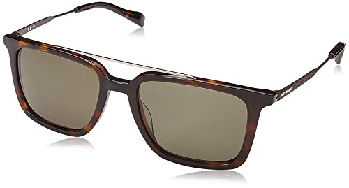 BOSS Orange Herren BO 0305/S QT 086 Sonnenbrille, Braun (DARK HAVANA/GN GREEN), 52