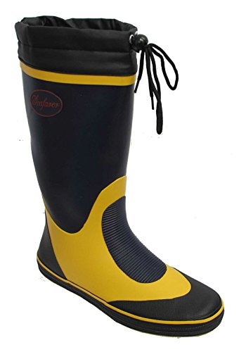 Seafarer Mens Original K7625 Navy Fisherman Sailing Toggle Wellington Boots