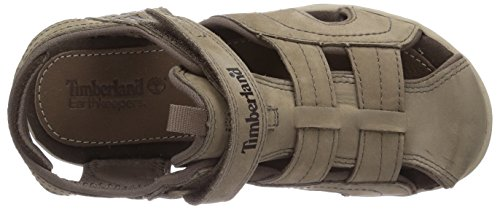 Timberland Active Casual Sandal_Oak Bluffs Leather Fisher, Sandales Bout Fermé Mixte Enfant Beige (Greige)