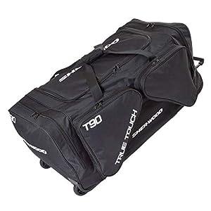 SHER-WOOD – Eishockeytasche T 90 True Touch mit Rollen I Tasche für Hockeyschläger I Hockey Bag aus Nylon I Transporttasche für Eishockeyausrüstung inkl. Tragegurte I geeignet für Eishockeyschläger