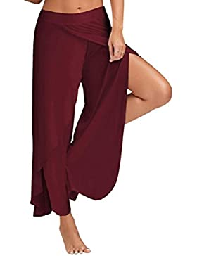 Pantalones Bombachos Hombre Y Mujer Sexy Waist Wide Leg Flowy Pants Women Casual Summer Long Loose Yoga Pants