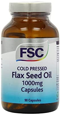 FSC 1000mg Organic Flaxseed Oil 90 Capsules from Food Supplement Compnay